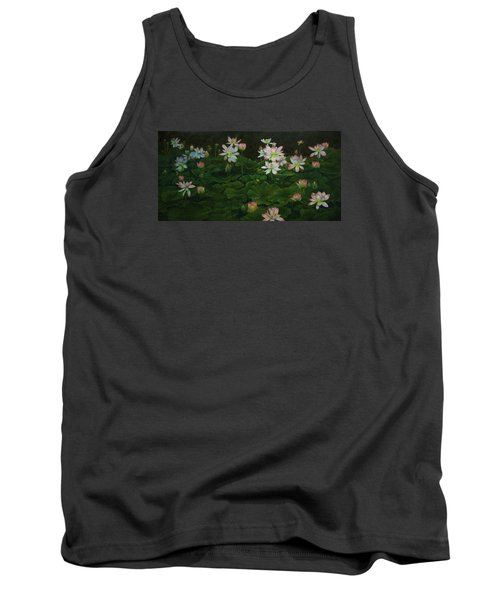A Pond Full Of Water Lilies And Youtube Video Tank Top by Roena King