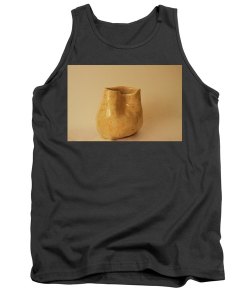 Tank Top featuring the photograph A Pot On A Leaf by Itzhak Richter