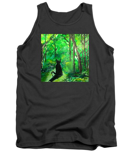 A Purrfect Day Tank Top by Seth Weaver