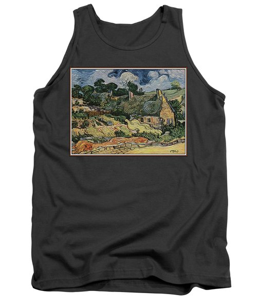 Tank Top featuring the digital art a replica of the landscape of Van Gogh by Pemaro