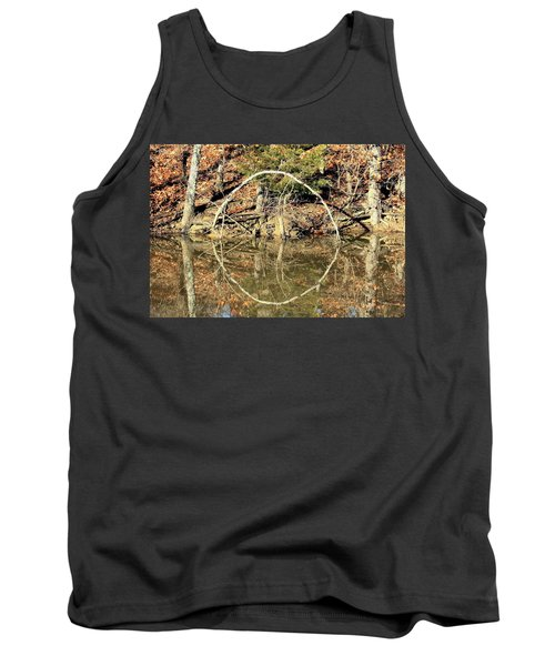 A Ring On The Pond In Fall Tank Top