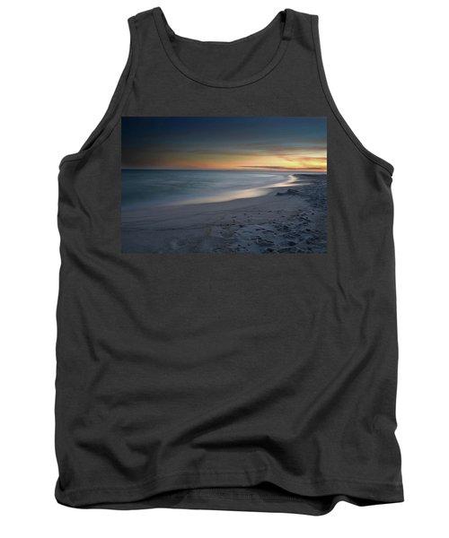 A Sandy Shoreline At Sunset Tank Top