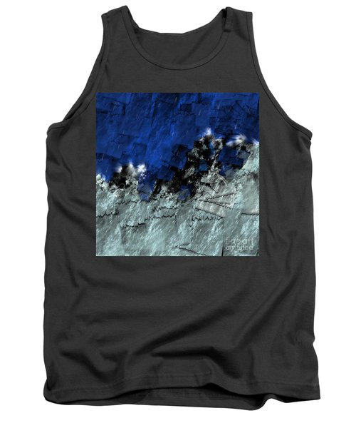 Tank Top featuring the digital art A Sea Storm In My Heart by Silvia Ganora