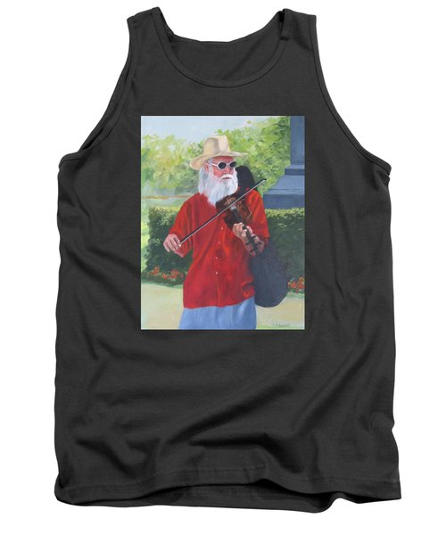 A Slim Fiddler For Peace Tank Top