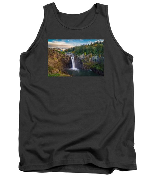 A Snoqualmie Falls  Autumn Tank Top by Ken Stanback
