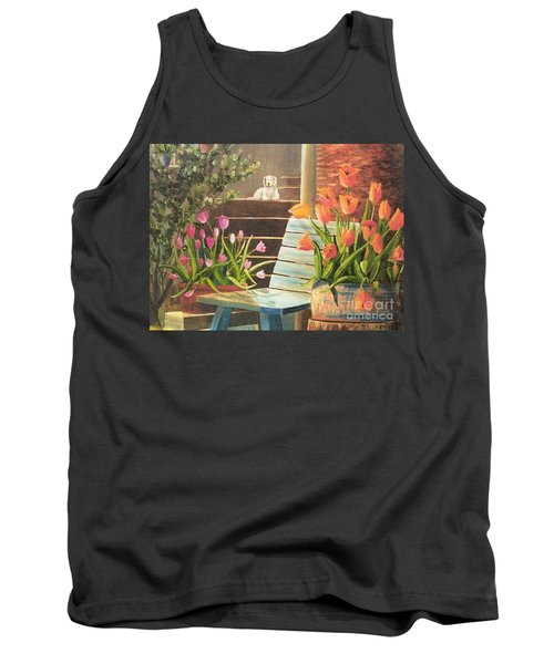 Tank Top featuring the painting A Special Place by Renate Nadi Wesley