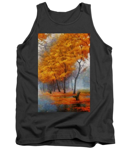 A Stand For Autumn Tank Top by Mario Carini