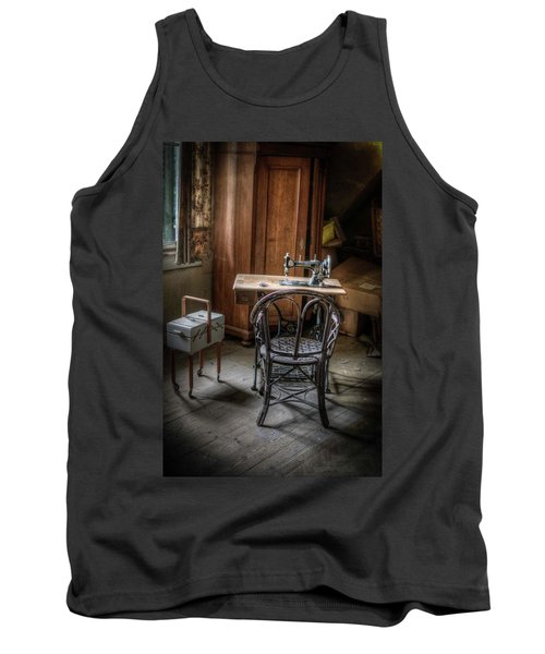 A Stitch In Time Tank Top by Nathan Wright
