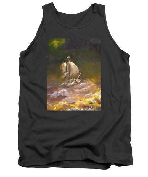 A Stormy Night At Sea Tank Top by Dan Whittemore