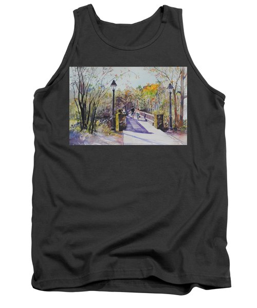A Stroll On The Bridge Tank Top by P Anthony Visco