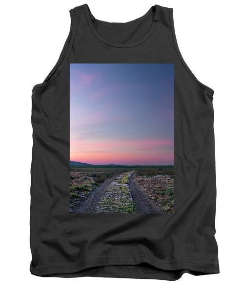 Tank Top featuring the photograph A Sunrise Path by Leland D Howard