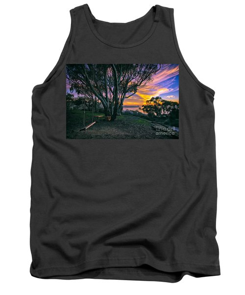 A Swinging Sunset From The Secret Swings Of La Jolla Tank Top