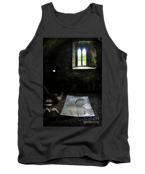 Tank Top featuring the photograph A Tombstone In Sligo Abbey by RicardMN Photography