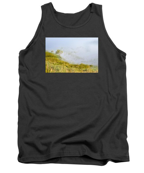 Tank Top featuring the photograph A Tree In The Lake Of The Scottish Highland by Dubi Roman