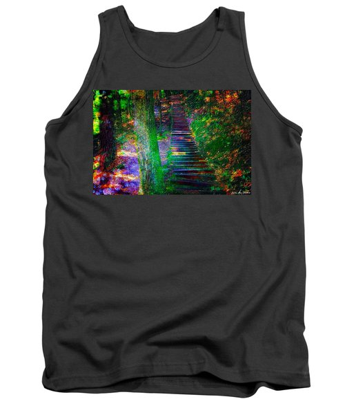 A Trek Tank Top by Iowan Stone-Flowers