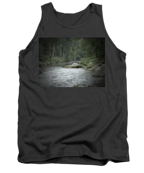 A View Downstream Tank Top by Donald C Morgan