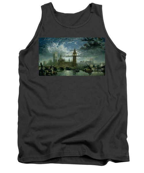A View Of Westminster Abbey And The Houses Of Parliament Tank Top