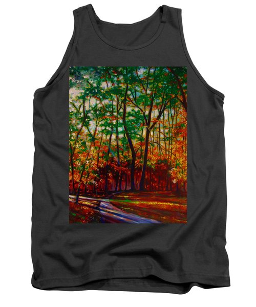 Tank Top featuring the painting A Walk In The Park by Emery Franklin