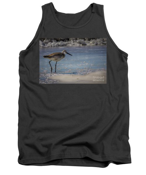 A Walk On The Beach Tank Top by Marvin Spates