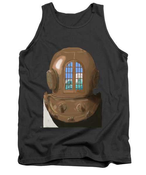 A Wave Inside The Helmet Tank Top