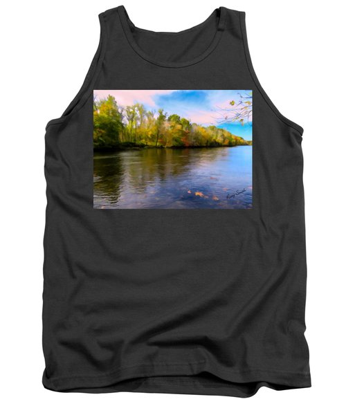 A Wide Scenic View Of Shetucket River. Tank Top