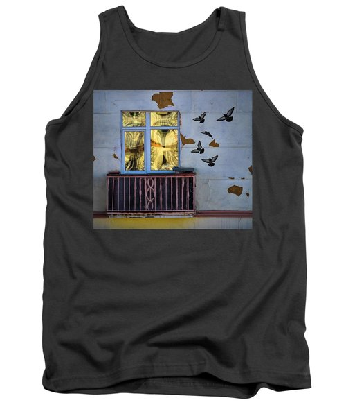 Tank Top featuring the photograph A Window by Vladimir Kholostykh