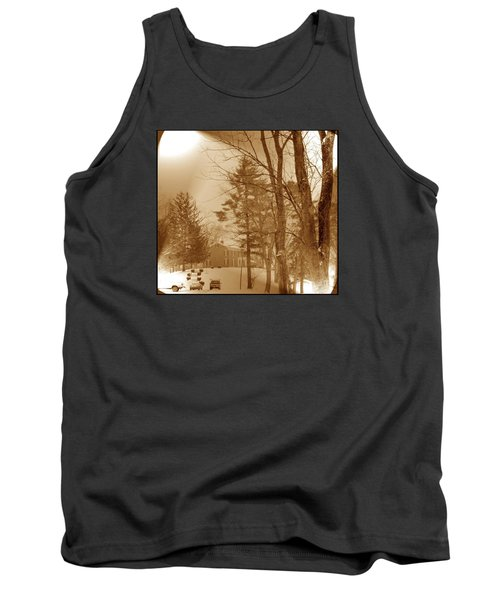 Tank Top featuring the photograph A Winter Scene by Skyler Tipton