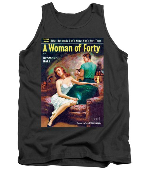 Tank Top featuring the painting A Woman Of Forty by Bernard Barton