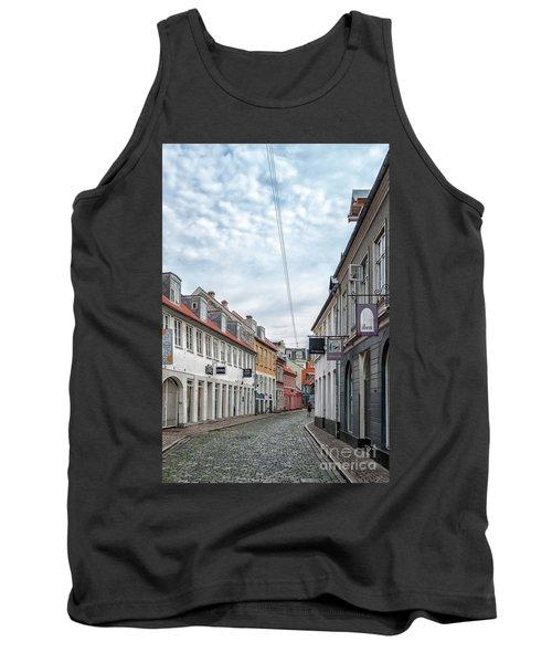 Tank Top featuring the photograph Aarhus Backstreet Scene by Antony McAulay