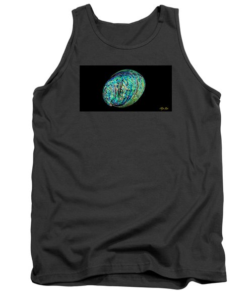 Tank Top featuring the photograph Abalone On Black by Rikk Flohr
