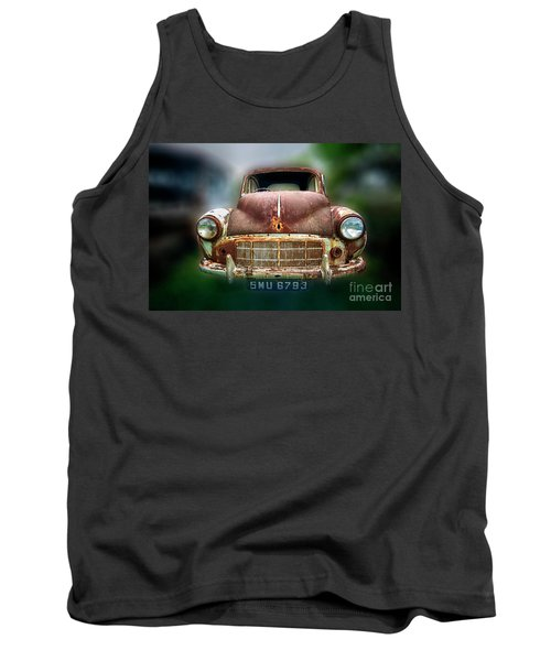 Tank Top featuring the photograph Abandoned Car by Charuhas Images