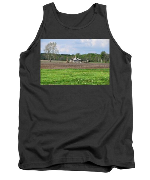 Tank Top featuring the photograph Abandoned Farmhouse by John Black