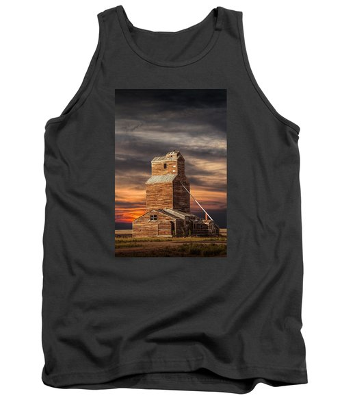 Abandoned Grain Elevator On The Prairie Tank Top by Randall Nyhof