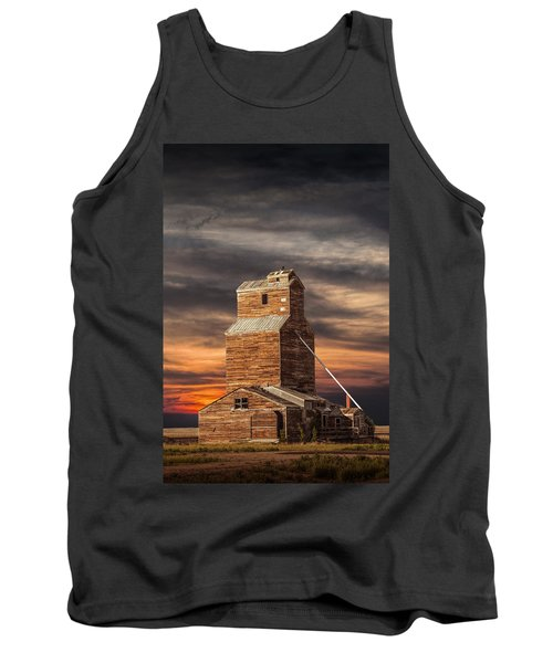 Abandoned Grain Elevator On The Prairie Tank Top