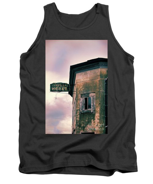 Tank Top featuring the photograph Abandoned Hotel by Jill Battaglia