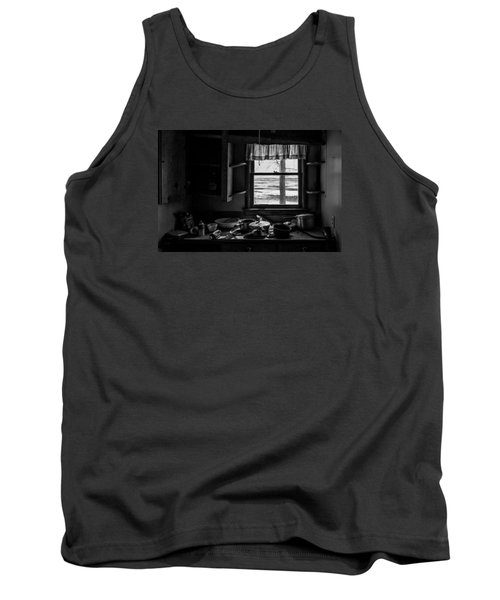 Tank Top featuring the photograph Abandoned Kitchen by Dan Traun
