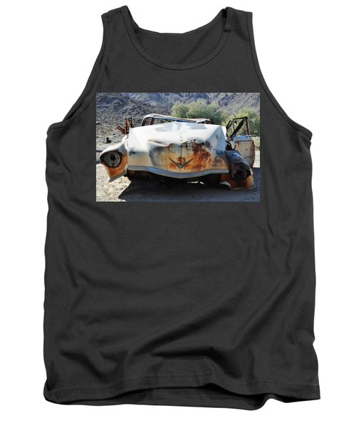 Tank Top featuring the photograph Abandoned Mojave Auto by Kyle Hanson