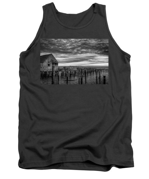 Abandoned Pier Tank Top by David Cote