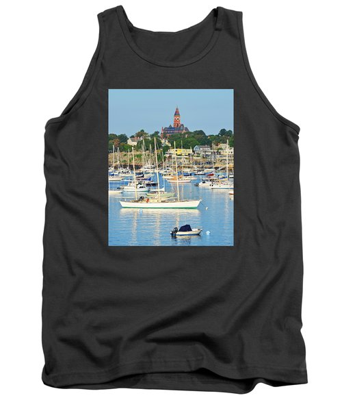 Abbot Hall Over Marblehead Harbor From Chandler Hovey Park Tank Top