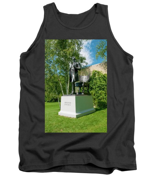 Tank Top featuring the photograph Abe Hanging Out by Greg Fortier
