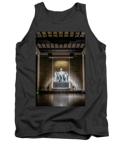 Abe Lincoln Under His Night Lights  Tank Top