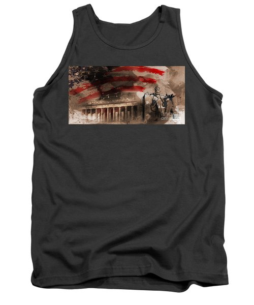 Tank Top featuring the painting Abraham Lincoln by Gull G