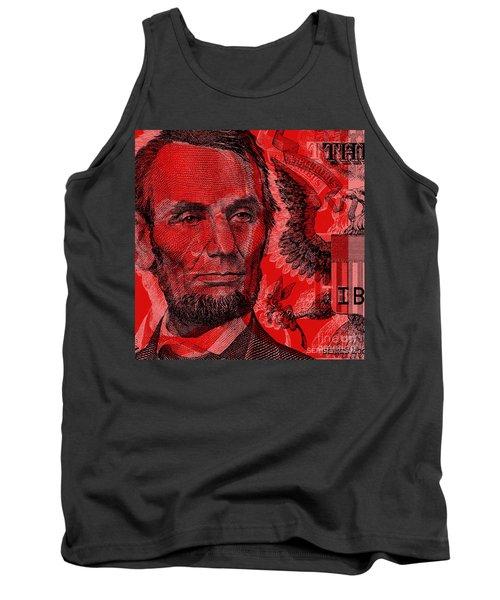 Abraham Lincoln Pop Art Tank Top