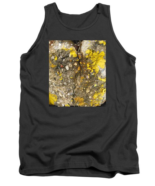 Abstract Art Seen In Parking Lot Tank Top by Sandra Church