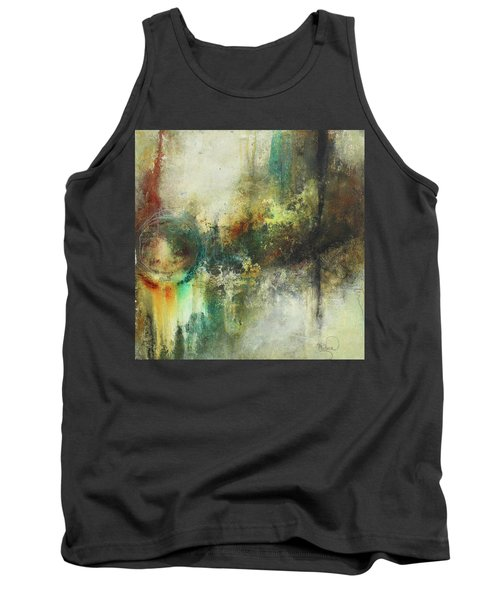 Abstract Art With Blue Green And Warm Tones Tank Top