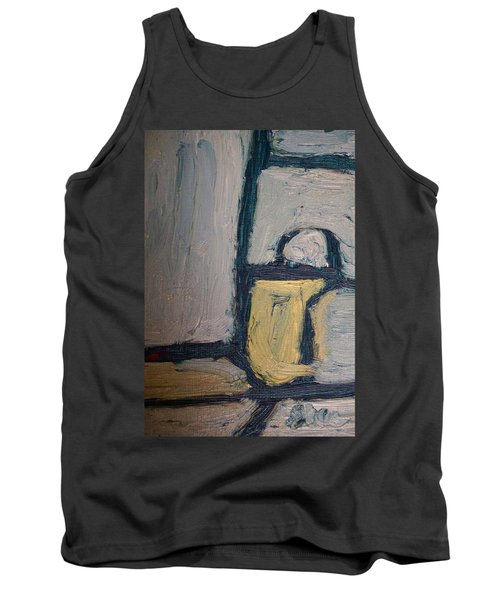 Abstract Blue Shapes Tank Top by Shea Holliman