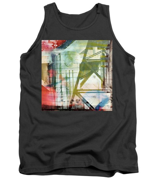 Abstract Bridge With Color Tank Top