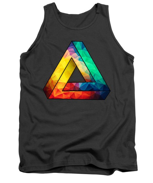 Abstract Color Wave Flash Tank Top