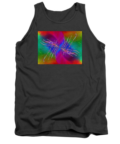 Tank Top featuring the digital art Abstract Cubed 353 by Tim Allen