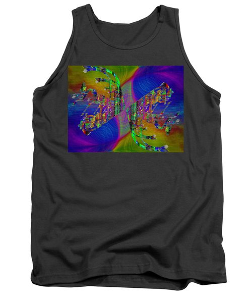 Tank Top featuring the digital art Abstract Cubed 368 by Tim Allen